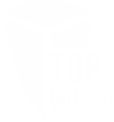Top of the World white logo